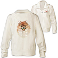 Doggone Cute Pomeranian Women's Jacket