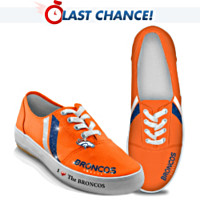 I Love The Denver Broncos Women's Shoes