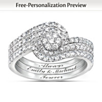 Our Love Story Personalized Diamond Ring