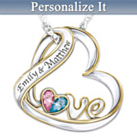 Love's Heart Personalized Pendant Necklace