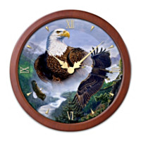 Majestic Moments Transitioning Stained Glass Wall Clock