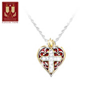 Sacred Heart Pendant Necklace