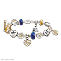 Baltimore Ravens Super Bowl Charm Bracelet