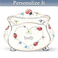 Granddaughter, You're Cute As A Bug Personalized Music Box