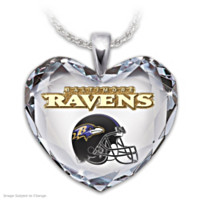 Go Ravens! Pendant Necklace