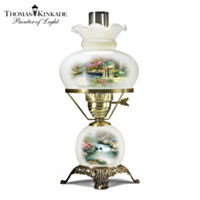 Thomas Kinkade's Garden Illuminations Glass Hurricane Lamp
