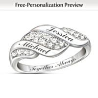 Cascade Of Love Personalized Ring
