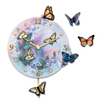 Lena Liu Whispers Of Elegance Wall Clock