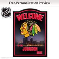 Chicago Blackhawks® Personalized Wall Decor