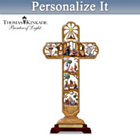 Thomas Kinkade The Nativity Cross Personalized Sculpture