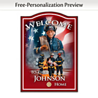 A Hero's Welcome Personalized Wall Decor