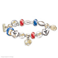 Go Bills! #1 Fan Charm Bracelet