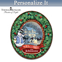 Thomas Kinkade Personalized Welcome Wreath