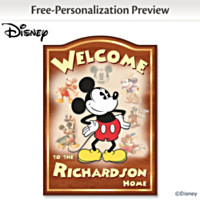 Disney Mickey Mouse Personalized Wall Decor