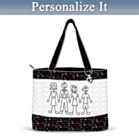 Family Sticks Together Personalized Quilted Tote