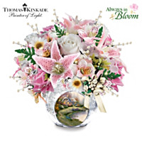 Thomas Kinkade Treasured Moments Crystal Centerpiece