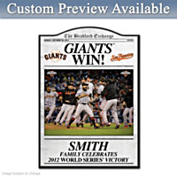 San Francisco Giants 2012 World Series Wall Decor
