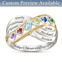 A Mother's Never Ending Love Personalized Ring