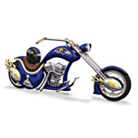 Baltimore Ravens Super Bowl Champion Chopper Figurine
