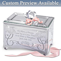 Daughter, You're A Dream Come True Personalized Music Box