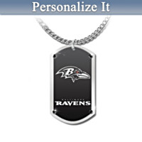 Baltimore Ravens Personalized Pendant Necklace