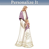 My Daughter, Bless You Always Personalized Musical Figurine