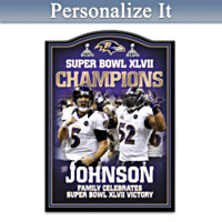 Baltimore Ravens Super Bowl XLVII Commemorative Wall Decor