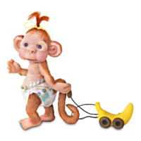 Monkey Toddles Figurine