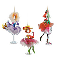 Dolly Mama's Happy Hour Ornament Set: Set Six