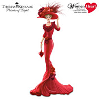 Thomas Kinkade Red At Heart Figurine