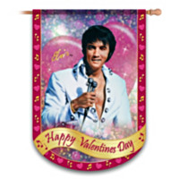 Elvis Happy Valentine's Day Flag