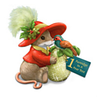 Charming Tails 1 Partridge In A Pear Tree Figurine