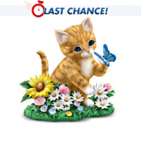 Blossoming With Curiosity Cat Figurine