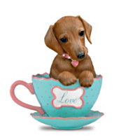 A Cup Of Love Dachshund Figurine