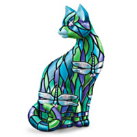 Dragonfly Cat Figurine