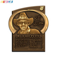 Richard Petty NASCAR Hall of Fame Plaque Wall Decor