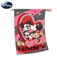Disney Happy Valentine's Day Vintage Flag