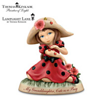Thomas Kinkade My Granddaughter, Cute As A Bug Figurine