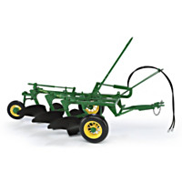 John Deere #55 3-Bottom Plow Diecast Tractor Accessory