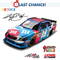 Kyle Busch No. 18 M&M'S Red, White & Blue 2012 Diecast Car