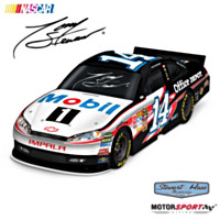 Tony Stewart #14 Mobil 1 Replica Sculpted Car Sculpture