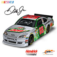 Dale Jr. #88 Diet Mountain Dew Sculpted 1:18 Car Sculpture