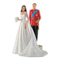 William And Catherine, The Royal Couple Figurine Set