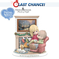 Thomas Kinkade Precious Moments Figurine With Art Print by
