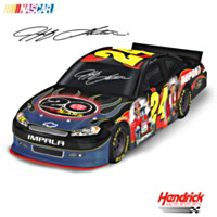 Jeff Gordon 20 Years With DuPont Car Sculpture