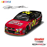 Jeff Gordon No. 24 AARP Drive To End Hunger Car Sculpture