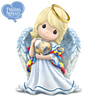 Precious Moments Angel Figurine Supports Autism Awareness by
