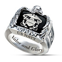 Sterling U.S. Navy Ring
