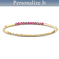 My Precious Daughter Birthstone Bracelet