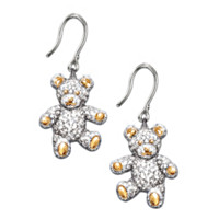 I Love You Beary Much Teddy Bear Earrings